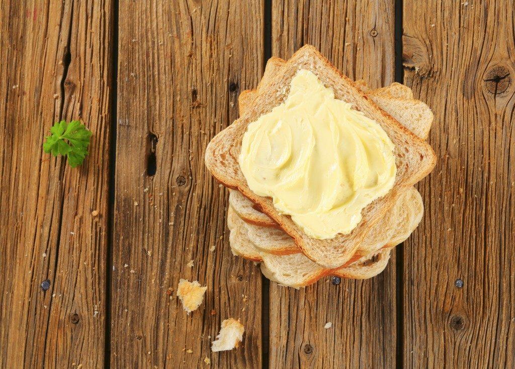 butter on toast